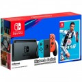 Игровая приставка Nintendo Switch Neon Red/Neon Blue 32GB + FIFA 19