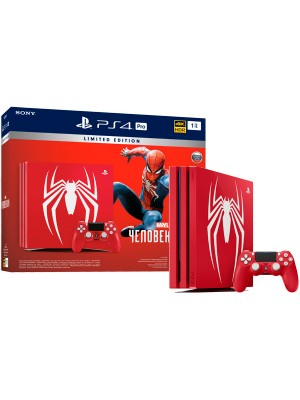 Игровая приставка Sony Playstation 4 PRO 1ТБ [CUH-7108B] Marvel's Spider-Man Limited Edition