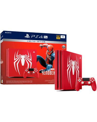 Sony Playstation 4 PRO 1ТБ Marvel's Spider-Man Limited Edition