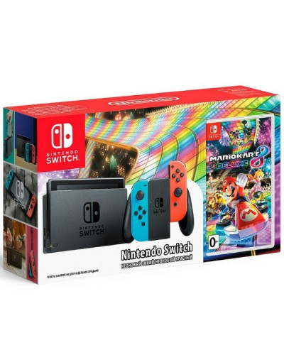 Nintendo Switch Neon Red/Neon Blue 32GB + Mario Kart 8