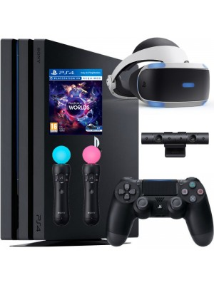 Комплект Sony PlayStation 4 Pro 1ТБ Black [CUH-7208B] + PS VR + Camera + VR Worlds + Move