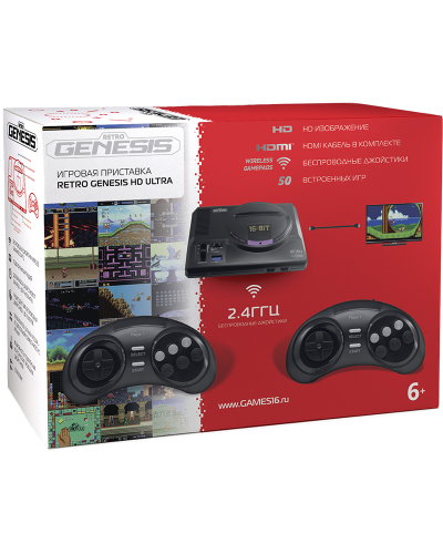 Sega Retro Genesis HD Ultra + 50 игр [ZD-06]
